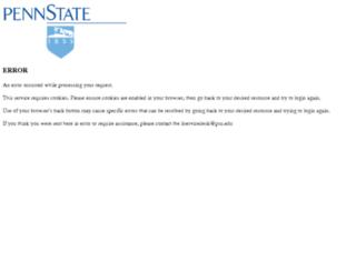 pennstate.service-now.com screenshot