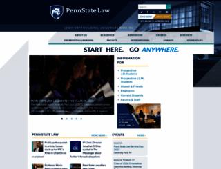 pennstatelaw.psu.edu screenshot