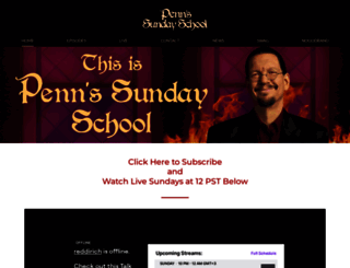 pennsundayschool.com screenshot