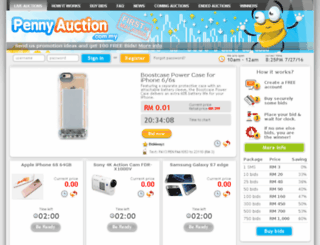 pennyauction.com.my screenshot