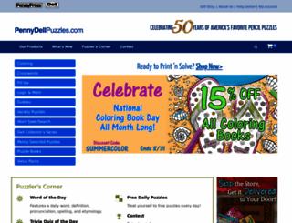 pennydellpuzzles.com screenshot
