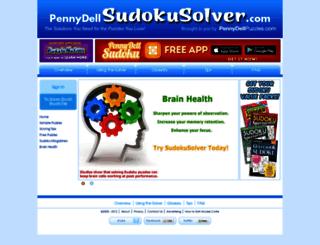 pennydellsudokusolver.com screenshot