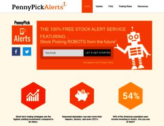 pennypickalerts.com screenshot