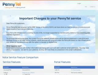 pennytel.com screenshot