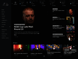 penrithpanthers.com.au screenshot