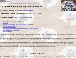 penrose.dmf.unicatt.it screenshot