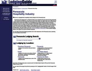pensacola.lodgingguide.com screenshot