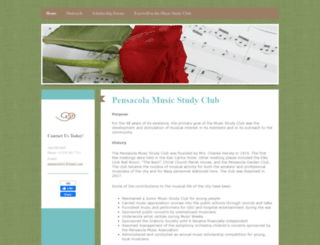 pensacolamusic.org screenshot