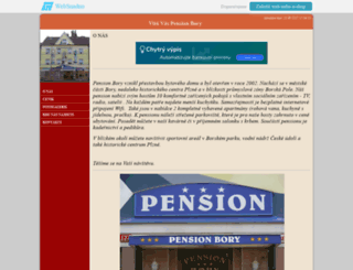 pension-bory.websnadno.cz screenshot