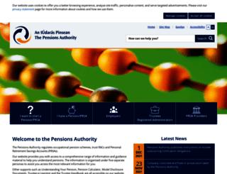 pensionsboard.ie screenshot