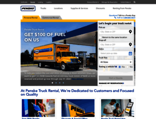 pensketruckrental.com screenshot