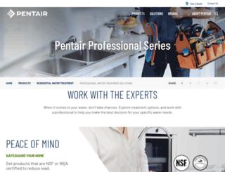 pentairwatertreatment.com screenshot