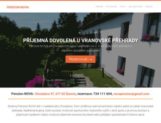penzionnova.cz screenshot