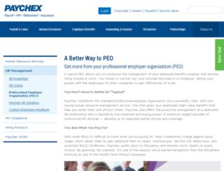 peo.paychex.com screenshot