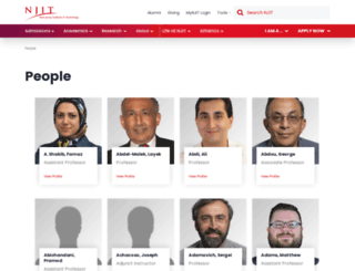 people.njit.edu screenshot