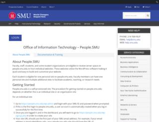 people.smu.edu screenshot