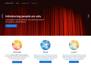 people.uic.edu screenshot