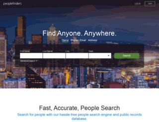 peoplefinders.com screenshot