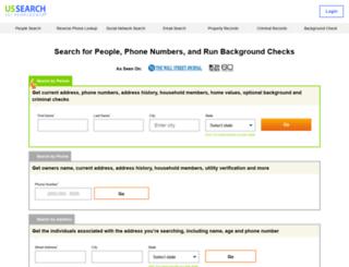 peoplelookup.com screenshot