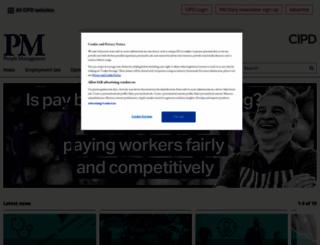peoplemanagement.co.uk screenshot