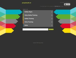 peoplesafe.ie screenshot