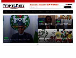 peoplesdailyng.com screenshot