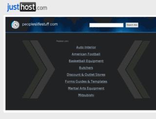 peopleslifestuff.com screenshot