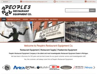 peoplesrestaurantequipco.com screenshot