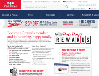 pepboysrewards.com screenshot