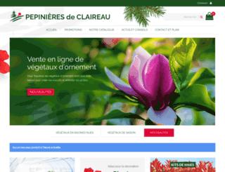 pepinieres-de-claireau.com screenshot