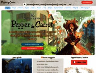 peppercarrot.com screenshot