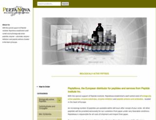 peptanova.de screenshot