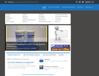 peptidescience.com screenshot