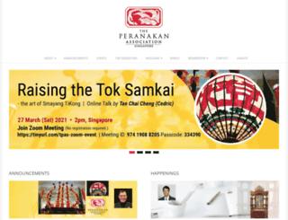 peranakan.org.sg screenshot