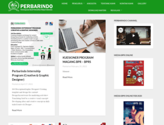 perbarindo.or.id screenshot