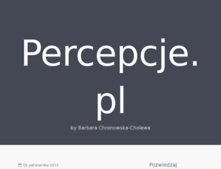 percepcje.pl screenshot