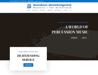 percussionbeurskens.com screenshot