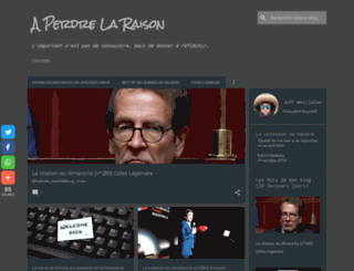 perdre-la-raison.blogspot.fr screenshot