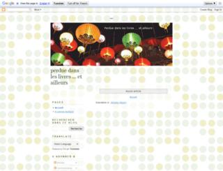 perduedansleslivres.blogspot.com screenshot