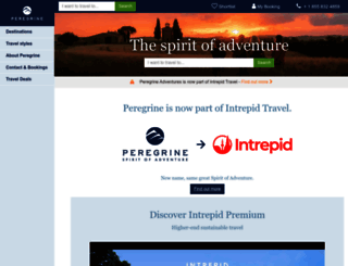 peregrineadventures.com screenshot