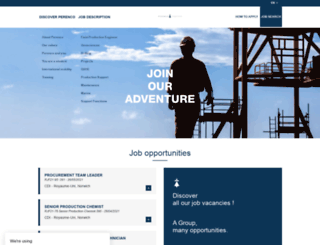 perenco-careers.com screenshot