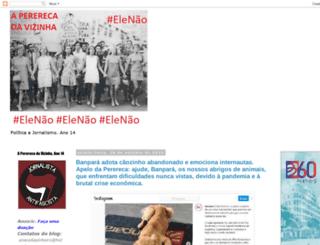pererecadavizinha.blogspot.com screenshot