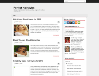 perfect-hairstyles.blogspot.com screenshot