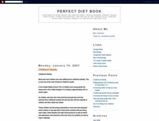 perfectdietbook.blogspot.com screenshot