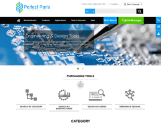 perfectelectronicparts.com screenshot