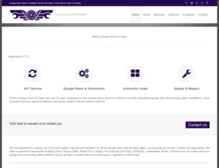 perfectgaragedoors.com screenshot
