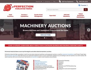 perfectionindustrialsales.com screenshot
