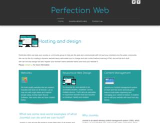 perfectionweb.co.uk screenshot