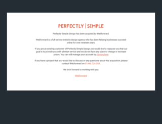 perfectlysimpledesign.com screenshot