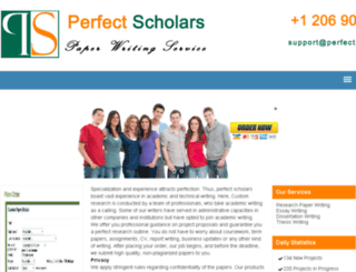 perfectscholars.com screenshot